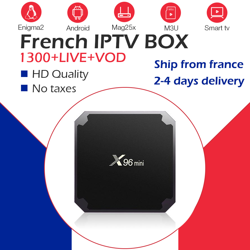 X96Mini+NEO IPTV France Arabic <font><b>Belgium</b></font> IPTV NeoPro IPTV m3u 1300Live+2000VOD wifi 4K Player Android Smart TV Box Set Top Box image