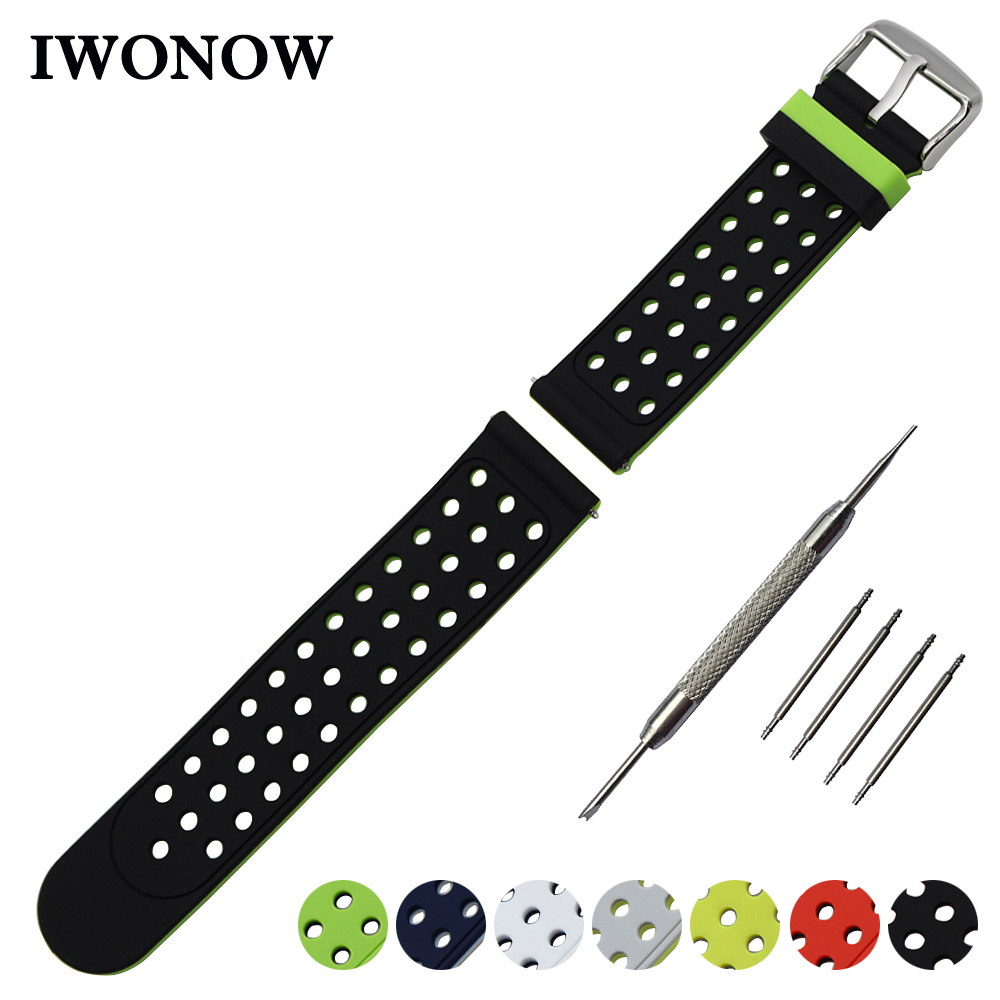 Silicone Rubber Watch Band 22mm for Pebble Time / Steel Samsung Gear S3 Watchband Double Side Wearing Strap Wrist Belt Bracelet high quality colorful 21mm silicone watch bands strap bracelet fitness replacement for pebble time time steel 8color