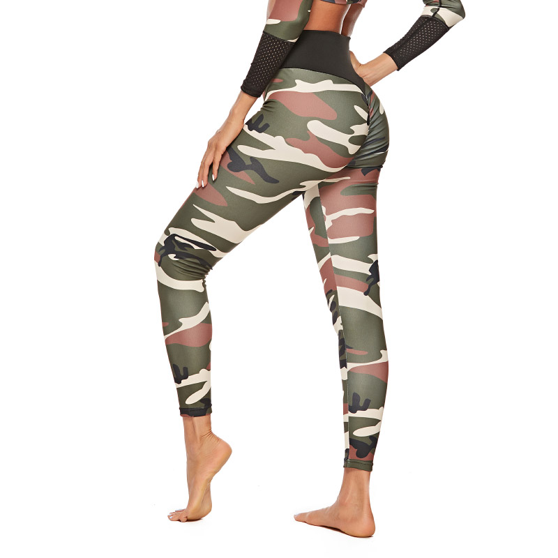 4 Colors Push Up Camouflage Print Leggings Women Polyester High Waist Jeggings Comfortable Fitness Pants Workout Girls Leggings