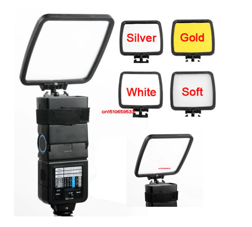 Foldable Camera Flash Diffuser Bounce Card Silver Gold White Photograph Reflector for Can n Nik n