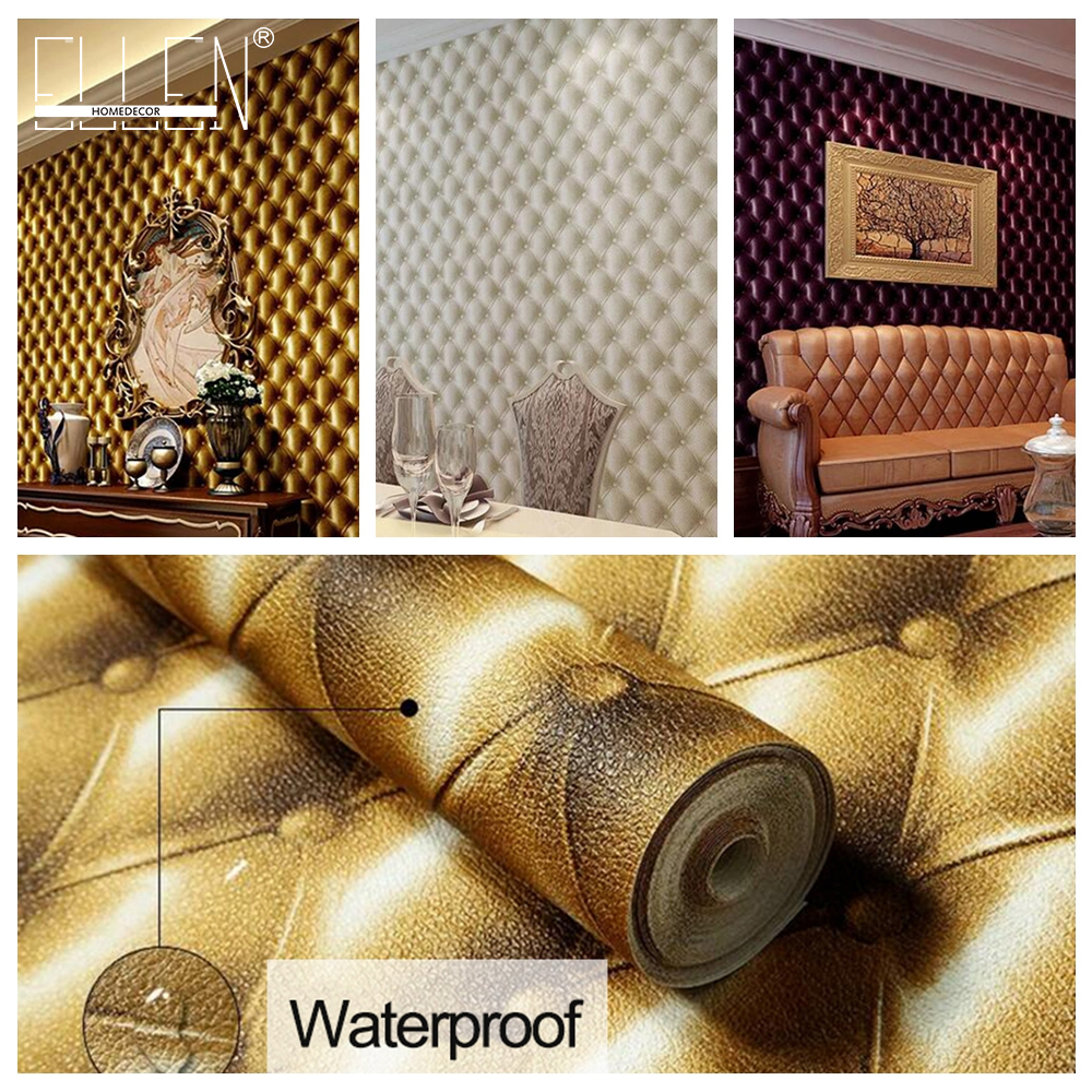 купить 3D Modern Imitation Leather vein wallpaper roll for walls,living room of 3d wall paper,papel de parede roll 3d room по цене 2203.12 рублей