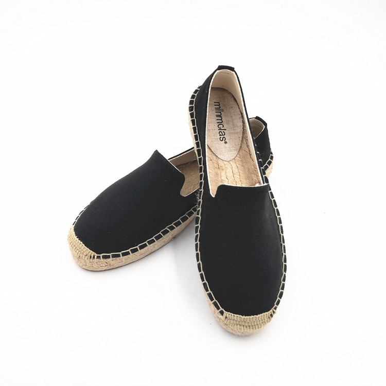 2019 New Fashion Embroidery Comfortable Palform Ladies Womens Casual Espadrilles Shoes Breathable Flax Hemp Canvas for Girls 4