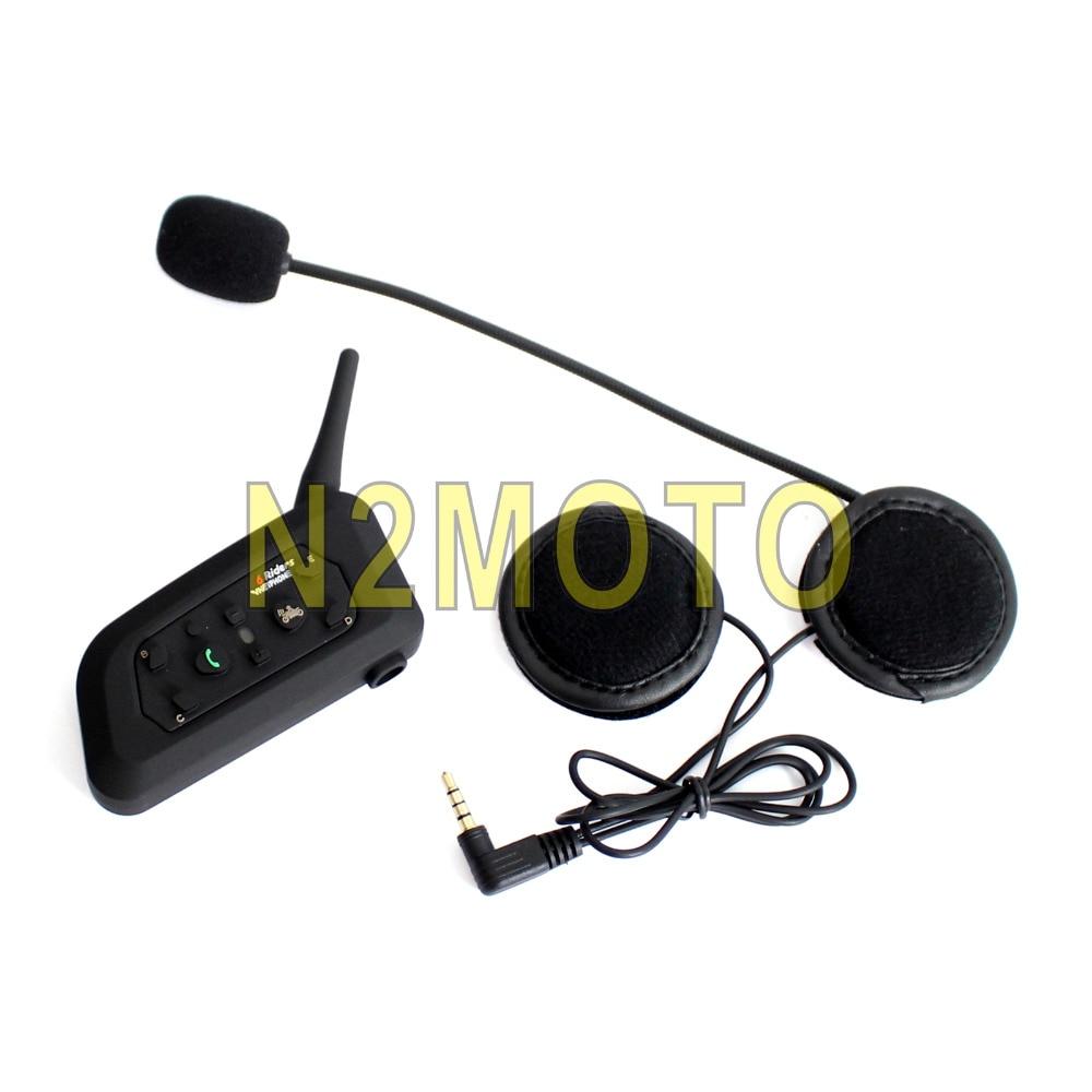 Casque moto BT casque Bluetooth Interphone moto 6 coureurs Intercomunicador Interphone Bluetooth sans fil