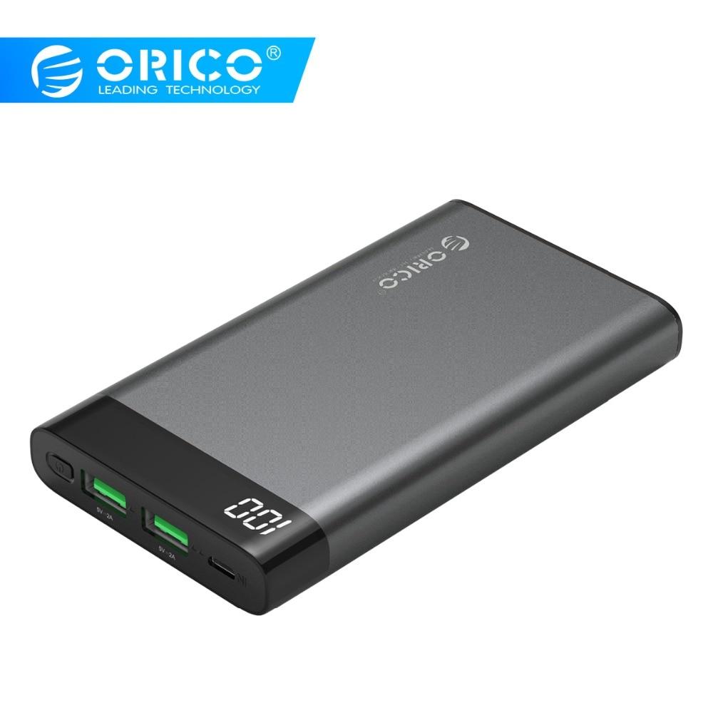 ORICO 10000 mah Power Bank Dual USB Ausgang Power Externe Batterie Pack Ladegerät Adapter für Handy
