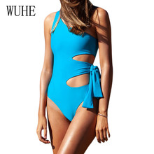 WUHE Hollow Out Bodycon Bandage Swimsuits Sexy Sleeveless High Waist Female Backless Retro Bodysuits Summer Beach Party Wear