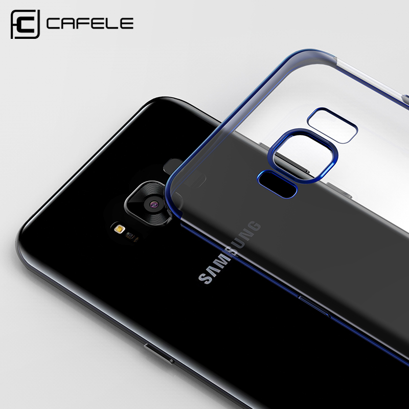 CAFELE Phone Case for Samsung Galaxy S8 S9 Silicone Fashion Transparent TPU Plated Mobile Phone Back Shell for Galaxy S8 9 Case in Fitted Cases from Cellphones Telecommunications