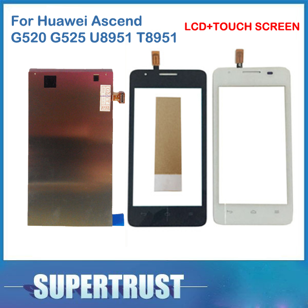 <font><b>4.5</b></font> <font><b>Inch</b></font> For Huawei Ascend G510 G520 U8951 T8951 Seperate <font><b>LCD</b></font> Screen Display and <font><b>Touch</b></font> Screen Replacement <font><b>with</b></font> tape image