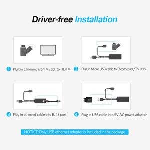 Image 4 - Ugreen Ethernet محول ل Chromecast USB 2.0 إلى RJ45 ل Google Chromecast 2 1 Ultra Audio جهاز استقبال للتليفزيون المصغّر USB بطاقة الشبكة