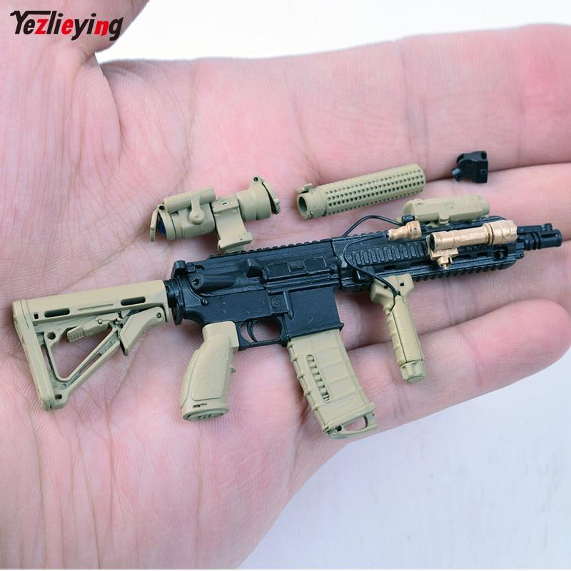 1/6 Scale Pistols 4D Assembling Sand HK416 Gun Weapon Model Toy Fit For 12 Inch Soldier Figure Accessories firearms 1 6 scale wwii walter p38 p 38 pistol gun model weapon toy for 12 inches soldier figure accessories