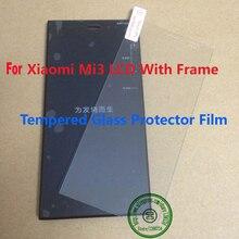 Mejor Pantalla LCD Pantalla Táctil Del Digitizador Assembly + Marco de Trabajo Para Xiaomi 3 M3 Mi3 Teléfono WCDMA + Vidrio Templado Protector de la Película
