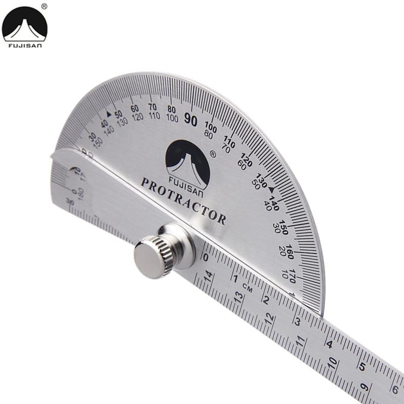 FUJISAN Regla de ángulo de 0-180 grados Prolongador rotativo de - Instrumentos de medición - foto 3