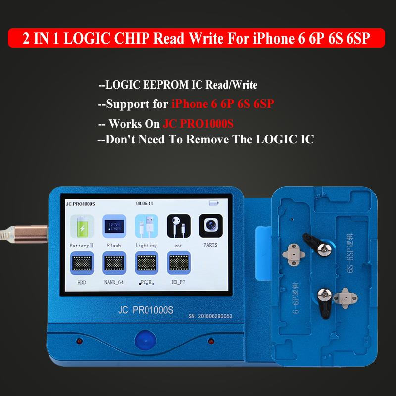 JC PRO1000S Logic EEPROM IC Chip Programmer Read Write for iPhone 6 6P 6S 6SP EEPROM IC Repair Tools