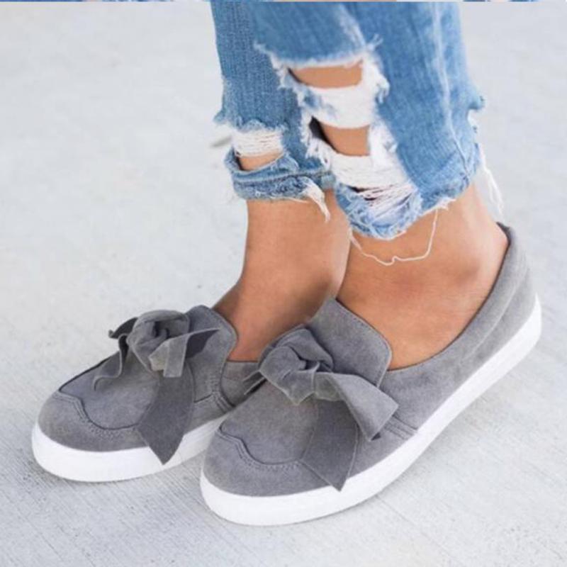 Mode Printemps grey Femmes Filles Nouveau Sport black Bowknot Souples Plat Toile Semelles De Automne Décoré À 926 pink Chaussures Mocassins White 7wFB6A7q