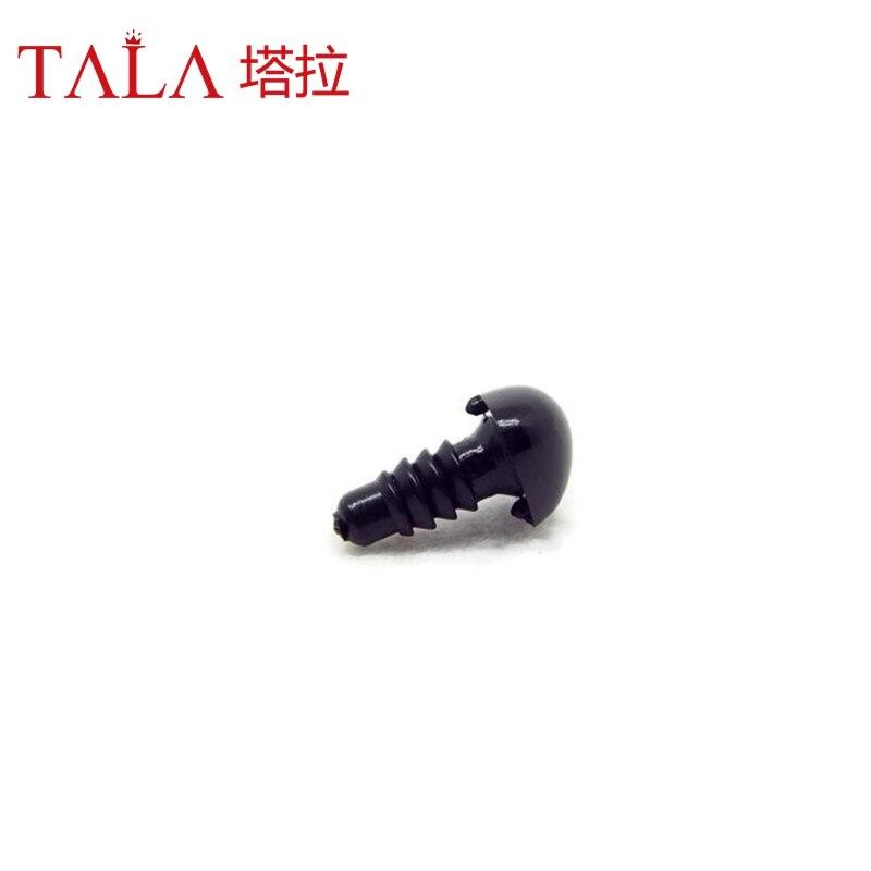 50pcs 4.5mm-26mm Hitam Plastik Keselamatan Hidung Untuk Mainan Datang - Boneka dan mainan lunak - Foto 5