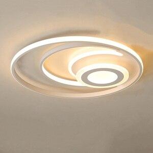 Image 1 - Bianco moderno lampadario illuminazione a Led per la camera da letto soggiorno sala da pranzo acrilico lustre luminaria lampadario lampadario A Soffitto