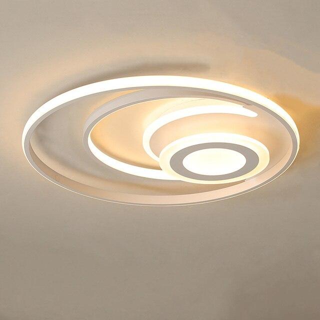 Bianco moderno lampadario illuminazione a Led per la camera da letto soggiorno sala da pranzo acrilico lustre luminaria lampadario lampadario A Soffitto