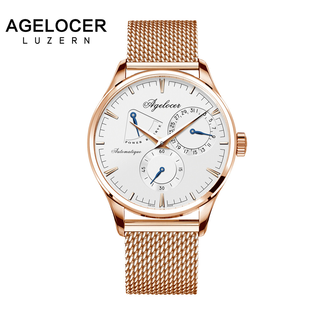 AGELOCER Men Luxury Swiss Brand Military Skeleton Watch Stainless Steel Male Clock Sport Business Automatic Wrist Watch Gift Box цена и фото