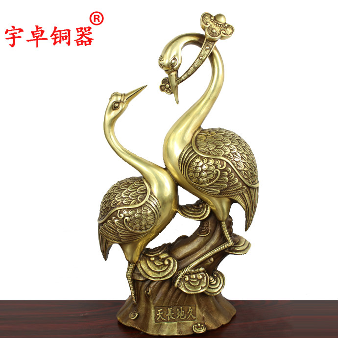 Yu Zhuo Shuanghe copper bronze gate Shuanghe enduring as the universe for wealth and luck auspicious ornaments craftsYu Zhuo Shuanghe copper bronze gate Shuanghe enduring as the universe for wealth and luck auspicious ornaments crafts