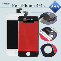 Mobymax 10PCS Lot AAA Pantalla Ecran Module For IPhone 4S 4 LCD Display Touch Capacitive Screen