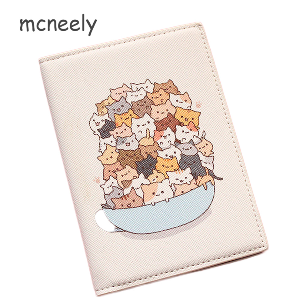 Mcneely 2019 Animals Prints Card Holder Purse Multi-function Bag Cover On The Passport Holder Protector Wallet Passport Cover