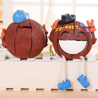 Personalized Basketball Piggy Bank Smile Face Cartoon Design Coin Bank Money Boxes Birthday Gift