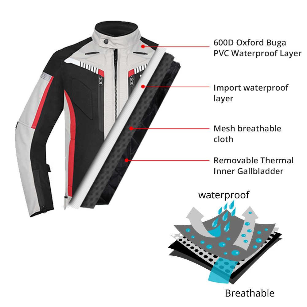 HEROBIKER весенне-осенняя мотоциклетная Мужская куртка водонепроницаемая ветрозащитная мотоциклетная куртка для верховой езды гоночная мотоциклетная одежда мото защита