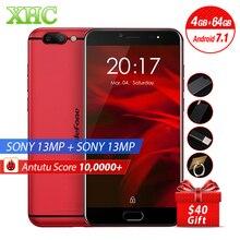 Ulefone Gemini Pro 64 GB D'empreintes Digitales Id Smartphone 4G LTE Double arrière Caméras 5.5 pouce Android 7.1.1 MTK6797 Deca Core Mobile téléphone