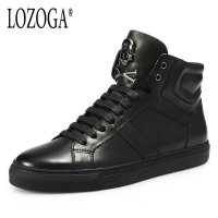 LOZOGA 2018 New Men Boots 100 Genuine Leather Basic Boots High Quality European Style Luxury Brand
