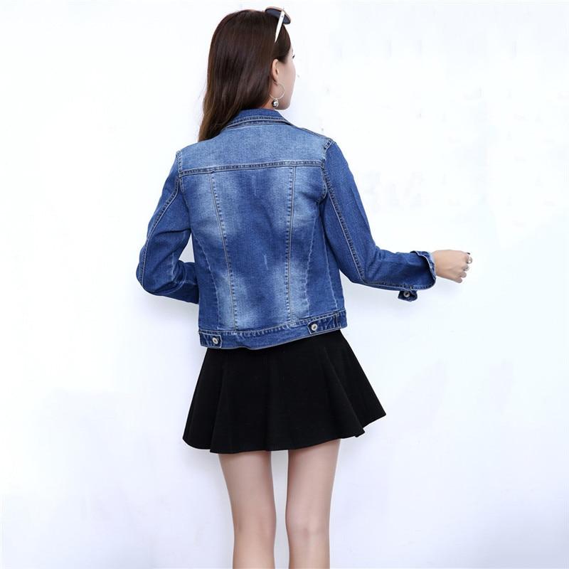 Denim Jacket Women Korean Short Slim Coat 19 New Spring Autumn Casual Single Breasted XL 2XL Plus Size Jean Jacket Feminina JD99 in Jackets from Women 39 s Clothing