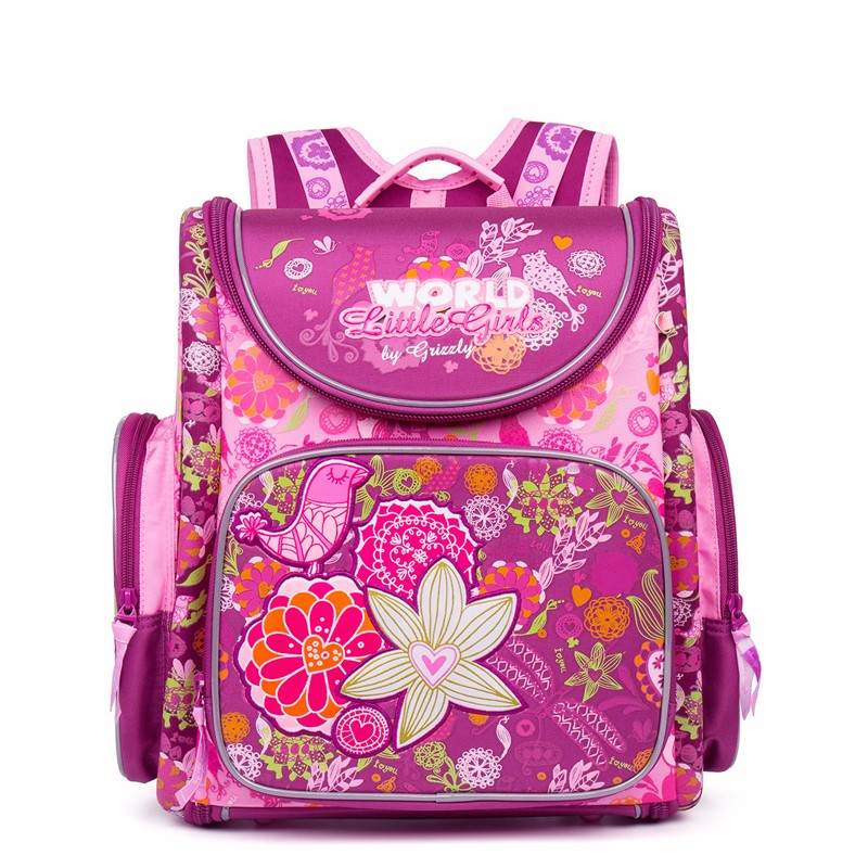 New Girl School Bag Orthopedic Backpack for Children Cartoon Animal Butterfly Prints High Quality Waterproof nylon book Bag cartoon cat prints high quality waterproof nylon school bags for teenager girls orthopedic backpacks book bag for kids rucksack