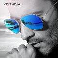 Veithdia moda bain de rayos gafas de sol polarizadas gafas de sol para los hombres/de las mujeres coloridas de revestimiento reflectante lente de conducción gafas de sol