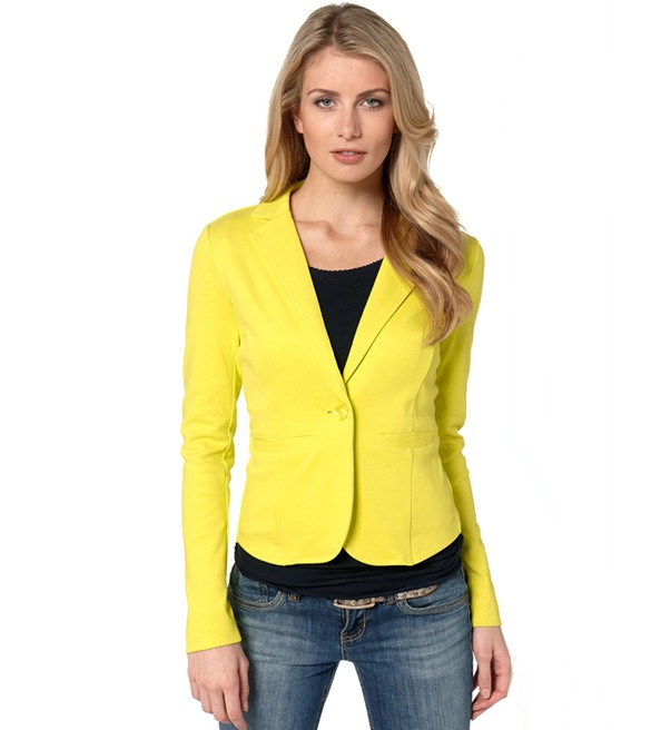 Compare Prices on Yellow Blazer Womens- Online Shopping/Buy Low ...