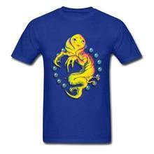 Stranger Things T-shirt Men Blue T Shirt 3D Monster Print Streetwear Students Unique Design Tops Tees Cotton Tshirt Wholesale цена и фото