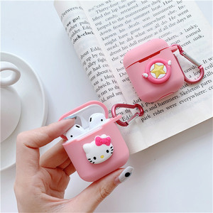 Image 4 - Cartoon animal Mickey Hello Kitty For apple airpods case Wireless Bluetooth Headset For airpods 1/2 Charging Silicone Soft Case