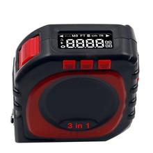 Профессия измерения 3-в-1 цифровая рулетка строка лазерный ролик Sonic зубная щётка режима измерения Королевский инструмент кабеля в рулоне Режим высокой точности
