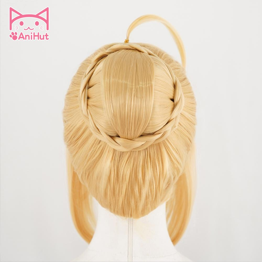 AniHut Altria Pendragon Saber Wig Anime Fate Stay Night Cosplay Wigs Game Fate Grand Order Cosplay Wig Synthetic  Women Hair