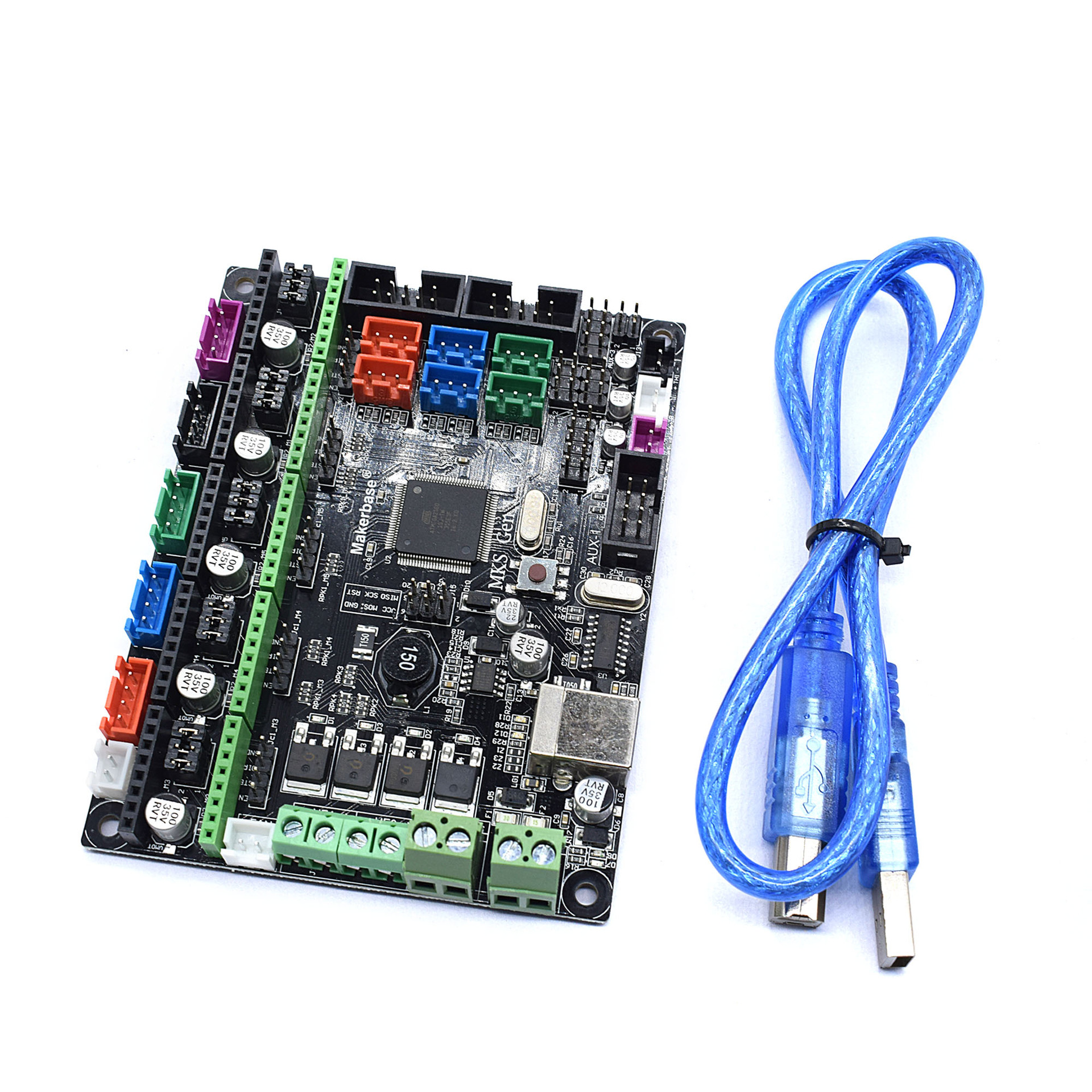 MKS Gen L V1.0 controller board integrated mainboard compatible Ramps1.4/Mega2560 R3 DRV8825/TMC2100 for tevo 3d printer parts mks gen l v1 0 integrated mainboard mks gen l v1 0 compatible ramps1 4 mega2560 r3 with 5pcs tmc2100 v1 3 stepper drivers