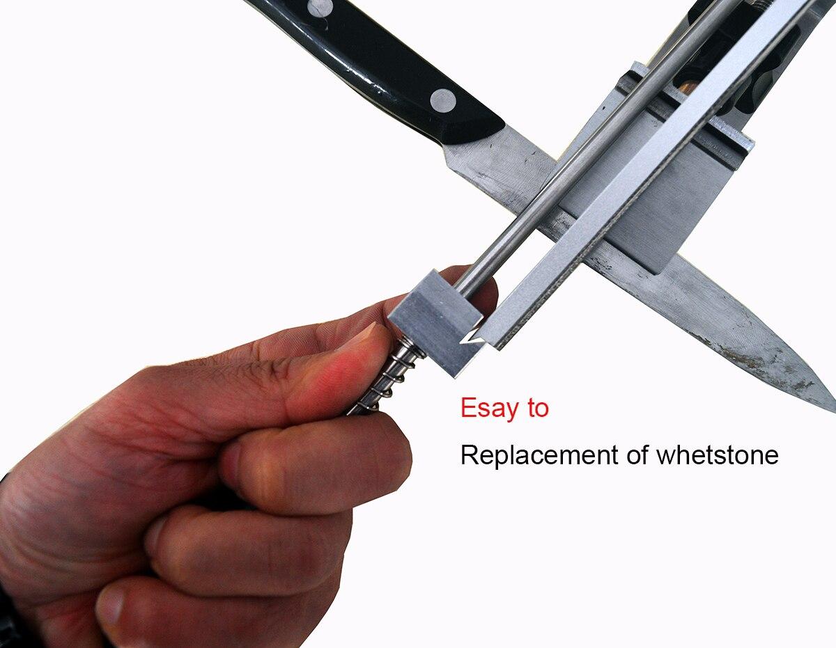 KME knife sharpener Professional sharpening knife Portable 360 Degree Rotation Fixed angle Apex edge knife sharpener with stones in Sharpeners from Home Garden