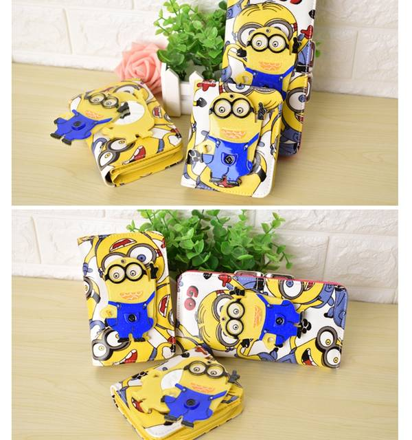 af4a19cdb Cute Cartoon Hello Kitty Doraemon Stitch Wallets with Magic Mirror Women  Leather Purse Girls Clutch Purse Lady Wallet girl gift-in Wallets from  Luggage ...