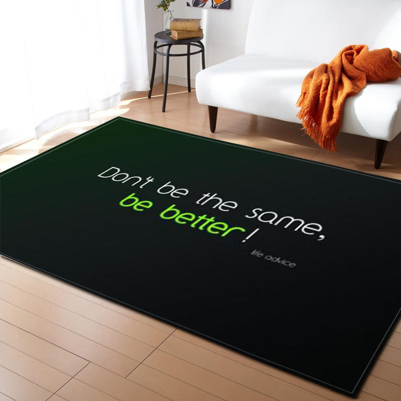 Moderne lettre impression tapis pour salon maison nordique tapis chambre chevet couverture zone tapis doux étude salle teppich tapis plancher