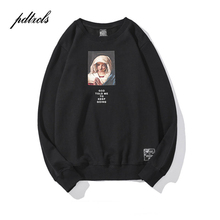 New Western Style Mens Virgin Mary Print Pullover Men Sweatshirts Autumn Casual Cotton Hip Hop Fashion Streetwear