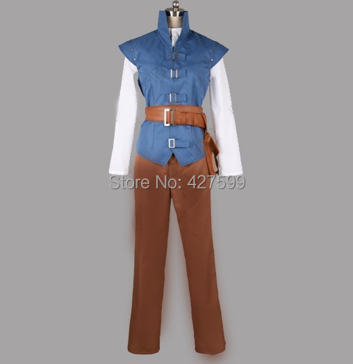 New Arrival Tangled Flynn Rider Cosplay Costume Rapunzel Prince Flynn Costume Prince Costume