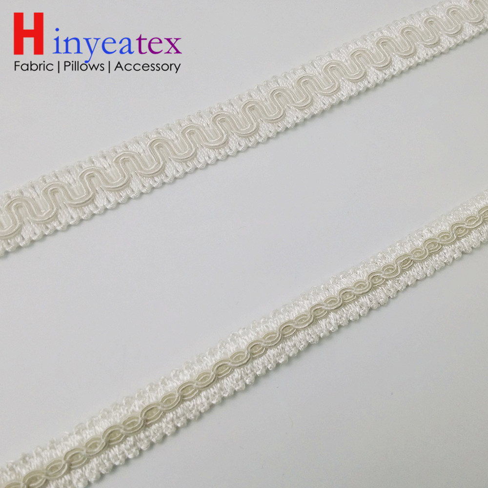Pure White Small Fringe Table cloth Trimming Sofa Chair Bag Interior Decorative Accessories Width 1.7 cm 1.2 cm Sell by Bale