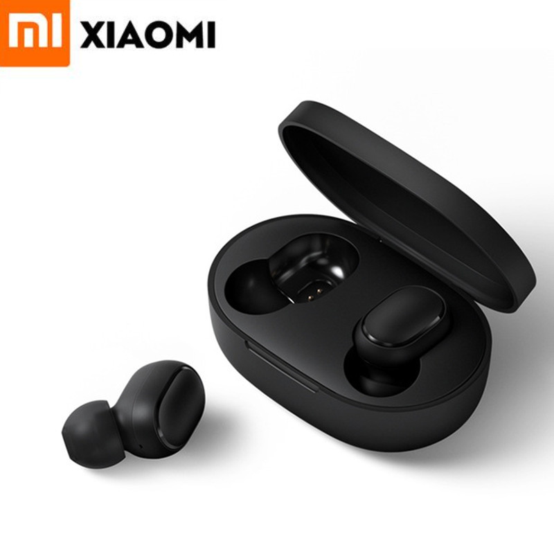Original Xiaomi Redmi AirDots TWS Bluetooth 5.0 Earphone Wireless In-ear Earbuds Headset With Mic And Charging Dock Box Redmi