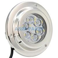 12V 24V 6 2W Surface Mount Marine LED Underwater Light White Stainless IP68