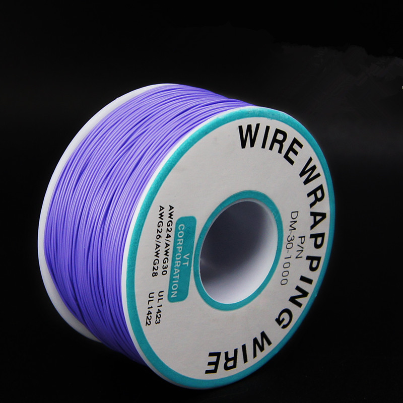 EziUsin Welding cable PCB Jumper Circuit Board 0.25mm Wire-Wrapping Electronic Wire 30AWG Cable 250m Purple