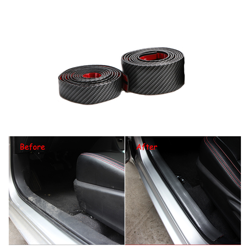 Interior Accessories Back To Search Resultsautomobiles & Motorcycles Provided Youwinme Universal 7cm Carbon Fiber Car Scuff Plate Door Sill Cover Panel Step Protector Styling Mouldings For Bmw Vw Audi Ford