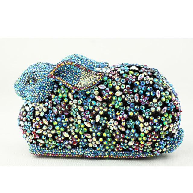 Women Designer Handbags For Less Rabbit Shaped Bag Canada Fashionable Crystal Clutch