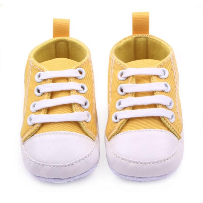 0-12 M Baru Lahir Balita Sepatu Kanvas Bayi Laki-laki Perempuan - Sepatu bayi - Foto 5