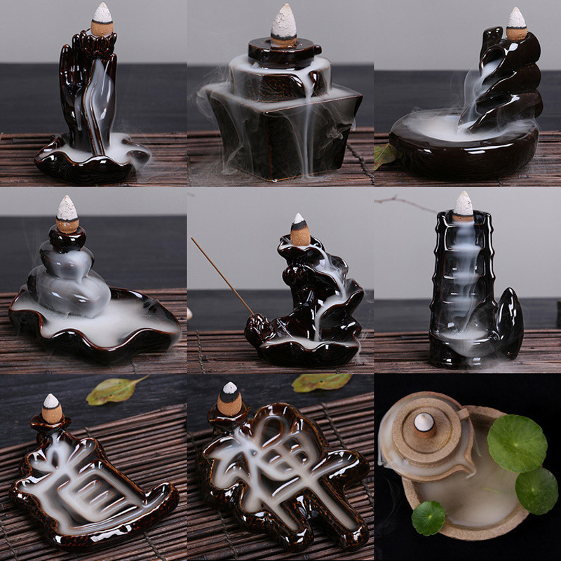 Smoke Backflow Incense Burners Tower Incense Censer Base Ceramics Creative Decoration Aromatherapy Supplies Home Decor Z $